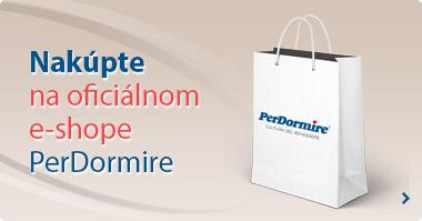Možnost nákupu na oficiálnom e-shope Perdormire